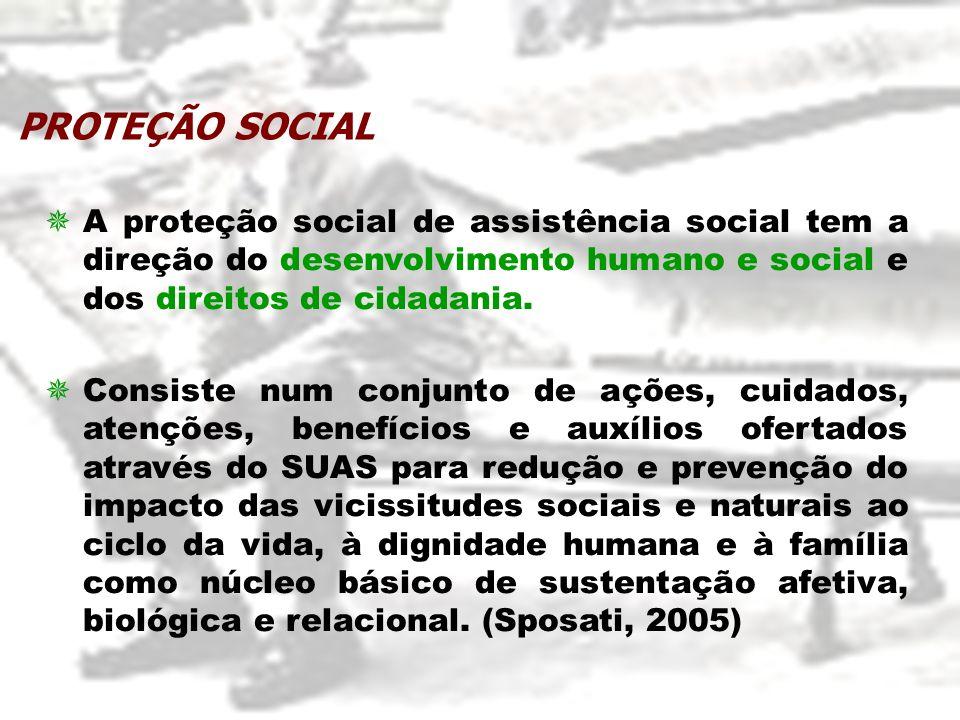 A proteção social de assistência social tem a direção do desenvolvimento humano e social e dos direitos de cidadania. Consiste num conjunto de ações,