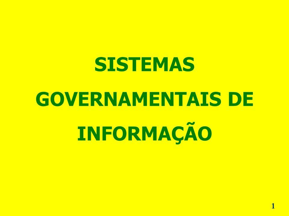 SISTEMAS GOVERNAMENTAIS DE INFORMAÇÃO 1