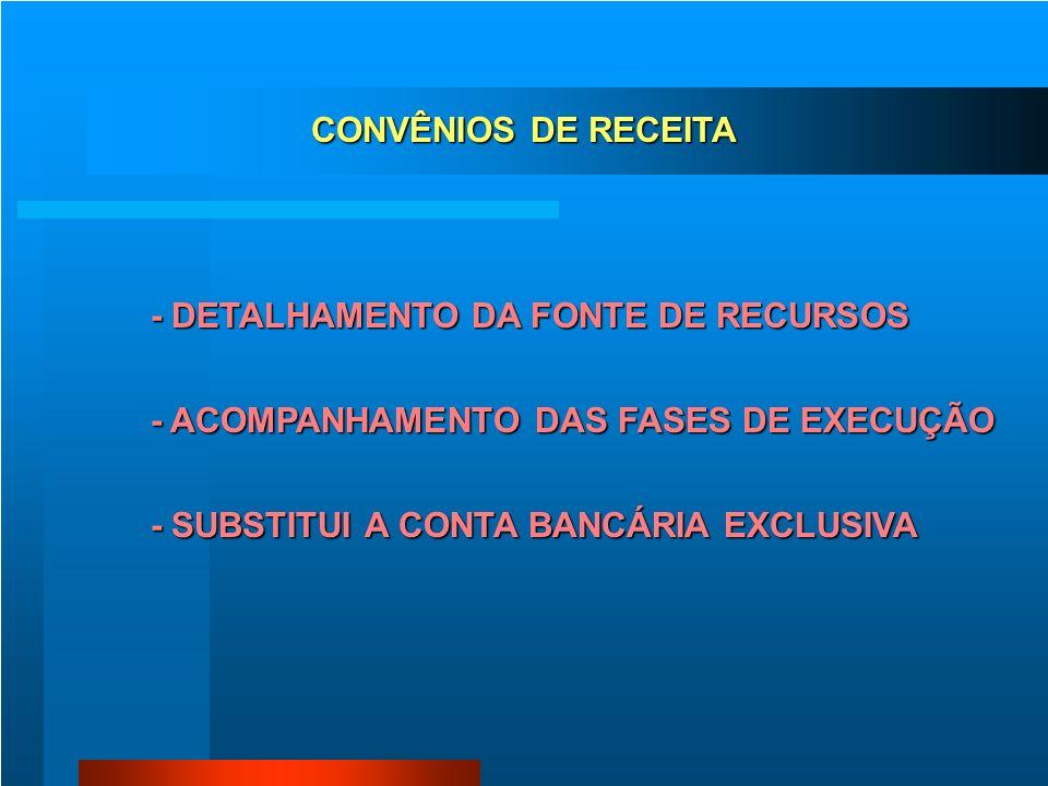 CADASTRO DE CONVÊNIO UNIÃO ESTADO MUNICÍPIO ONG ENTIDADE PRIVADA ESCOLA HOSPITAL +