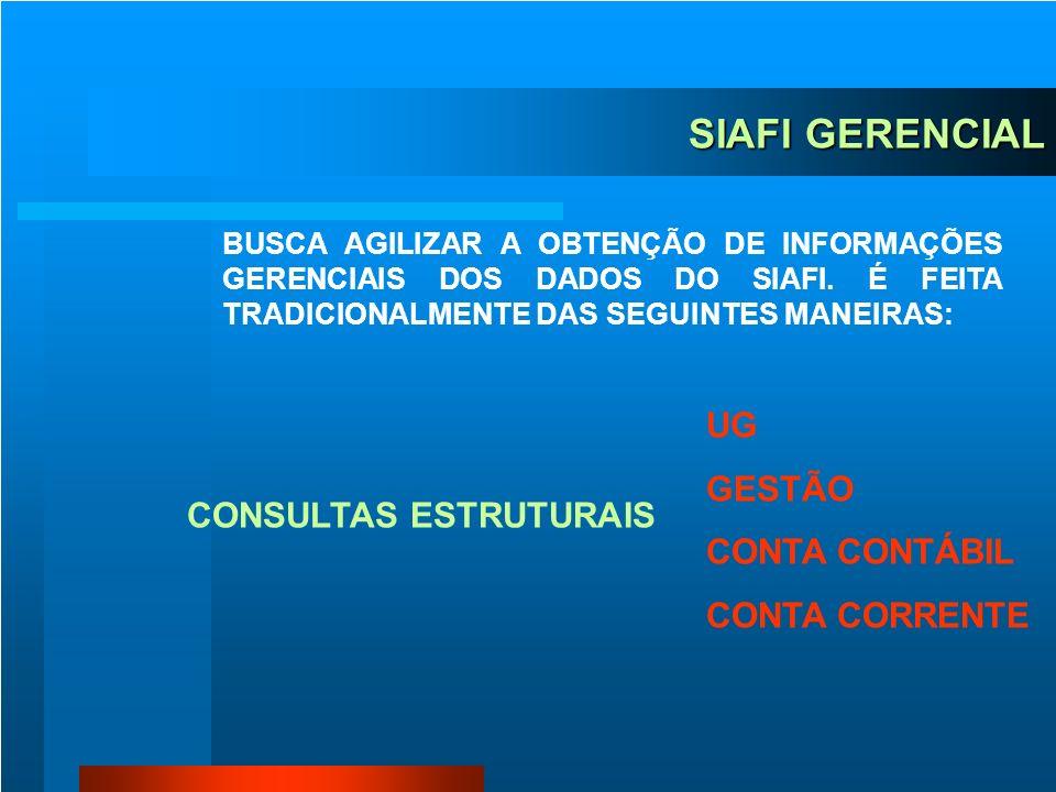 AMBIENTE SIAFI SIAFI SIAFI GERENCIAL SIAFI EDUCACIONAL STNet PROCESSO BT EXTRATOR DE DADOS
