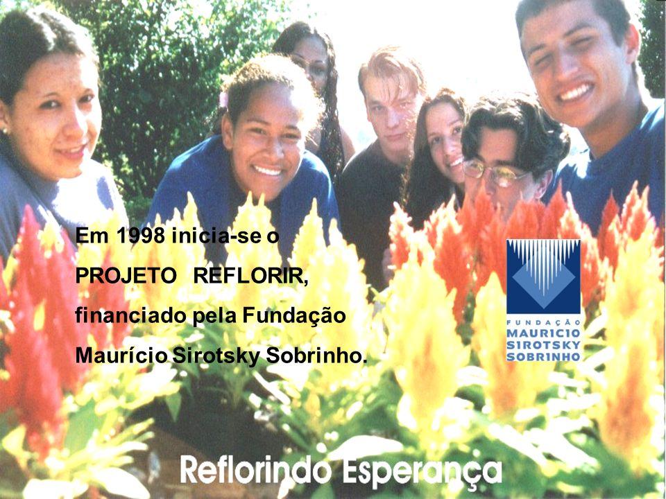 Em 1998 inicia-se o PROJETO REFLORIR, financiado pela Fundação Maurício Sirotsky Sobrinho.