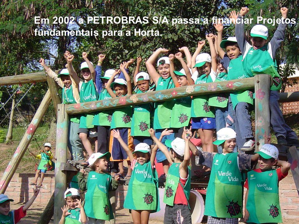 Em 2002 a PETROBRAS S/A passa a financiar Projetos fundamentais para a Horta.