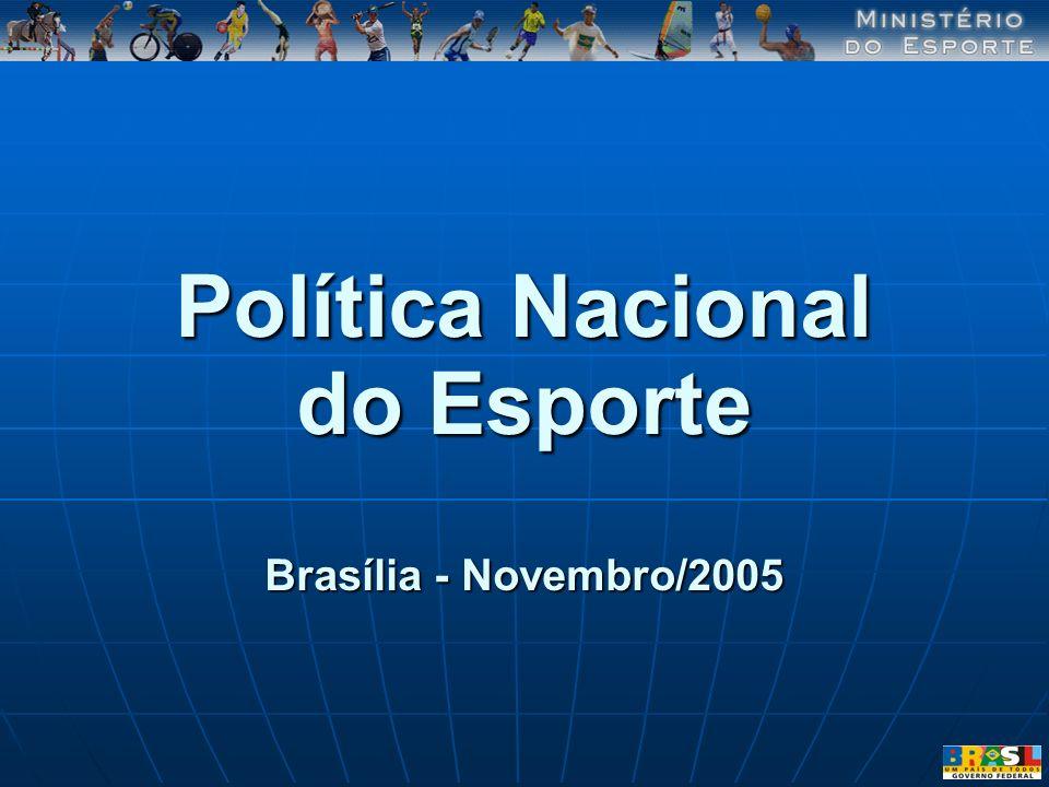Política Nacional do Esporte Brasília - Novembro/2005