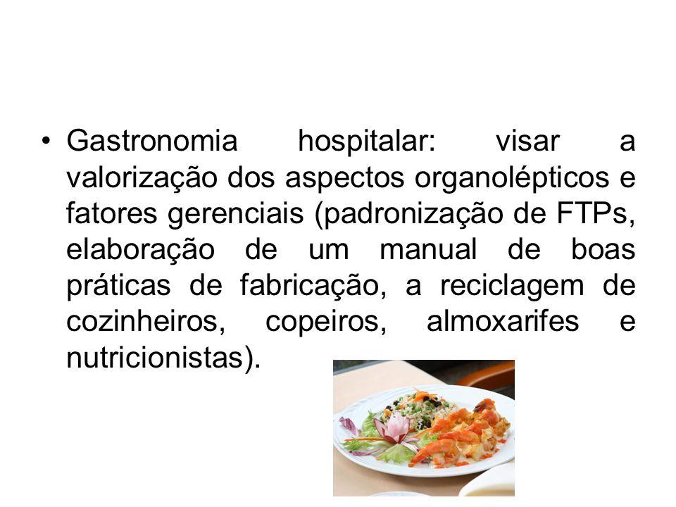 Gastronomia hospitalar: visar a valorização dos aspectos organolépticos e fatores gerenciais (padronização de FTPs, elaboração de um manual de boas pr