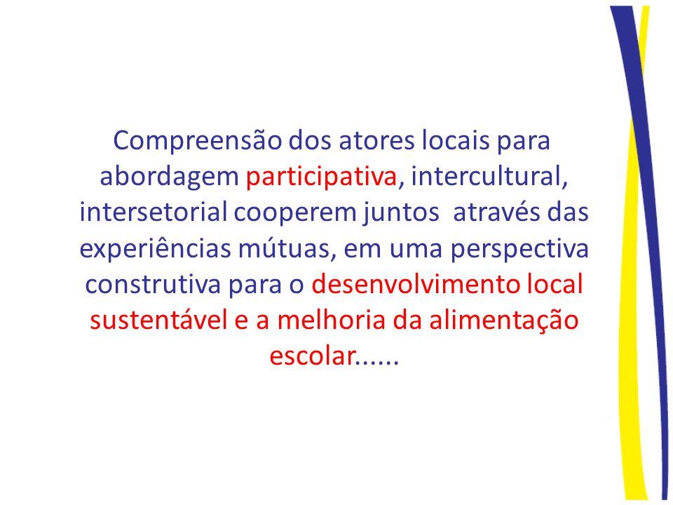 Compreensão dos atores locais para abordagem participativa, intercultural, intersetorial cooperem juntos através das experiências mútuas, em uma persp