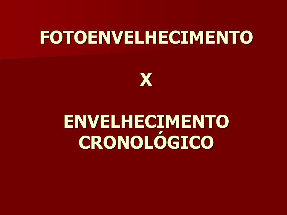 FOTOENVELHECIMENTO X ENVELHECIMENTO CRONOLÓGICO