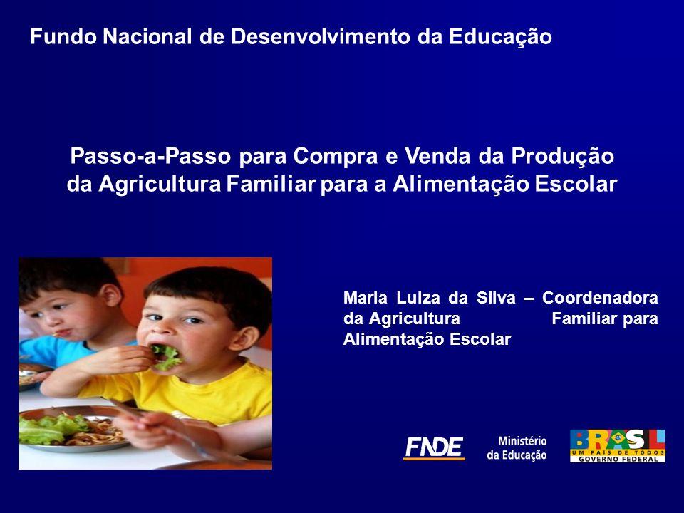 Passo-a-Passo para Compra e Venda da Produção da Agricultura Familiar para a Alimentação Escolar Fundo Nacional de Desenvolvimento da Educação Maria L