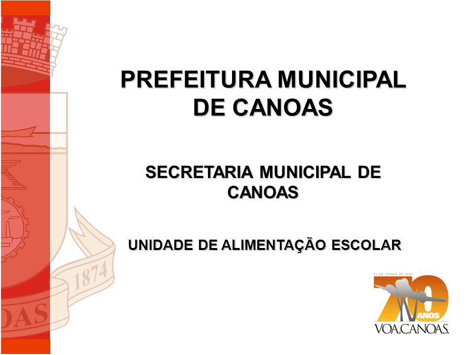 PREFEITURA MUNICIPAL DE CANOAS SECRETARIA MUNICIPAL DE CANOAS UNIDADE DE ALIMENTAÇÃO ESCOLAR