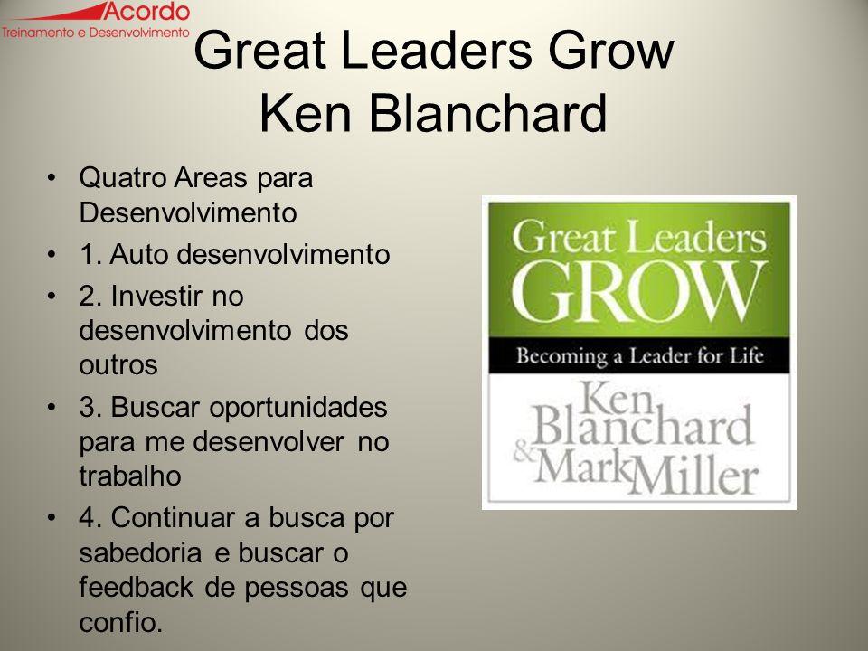 Great Leaders Grow Ken Blanchard Quatro Areas para Desenvolvimento 1.