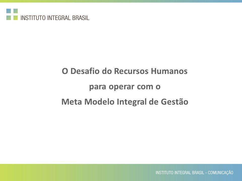 O Desafio do Recursos Humanos para operar com o Meta Modelo Integral de Gestão