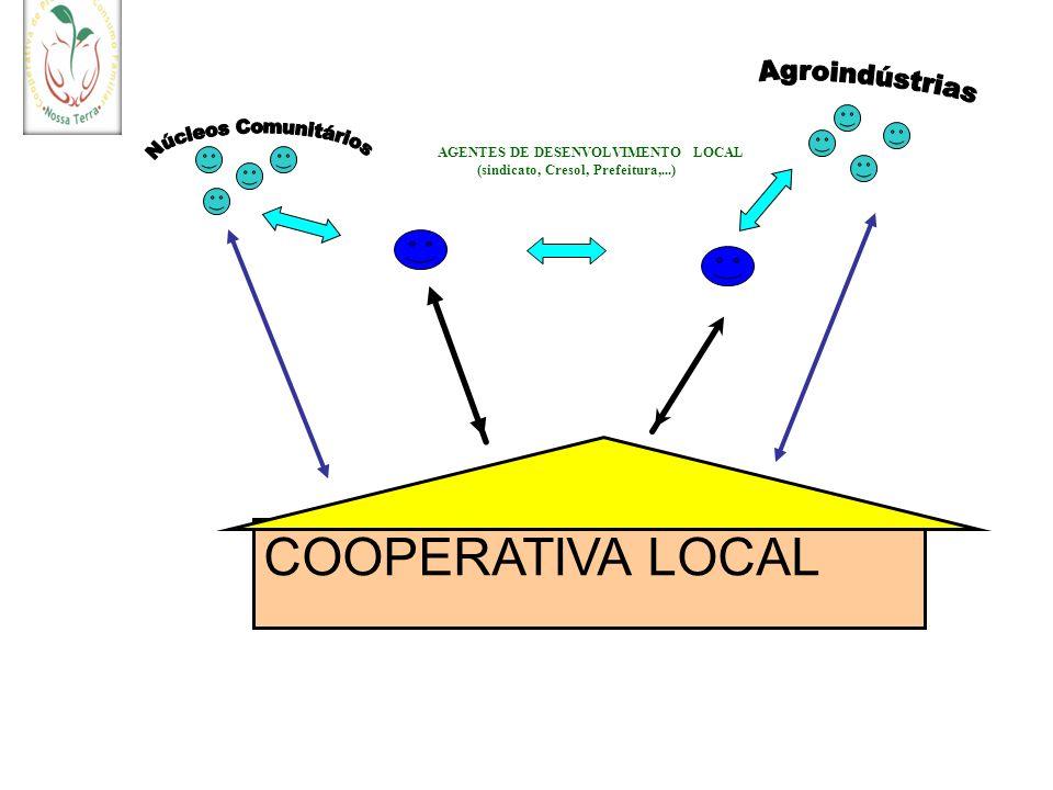 COOPERATIVA LOCAL AGENTES DE DESENVOLVIMENTO LOCAL (sindicato, Cresol, Prefeitura,...)