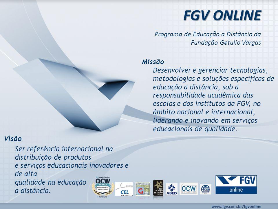 www.fgv.br/fgvonline FGV Online