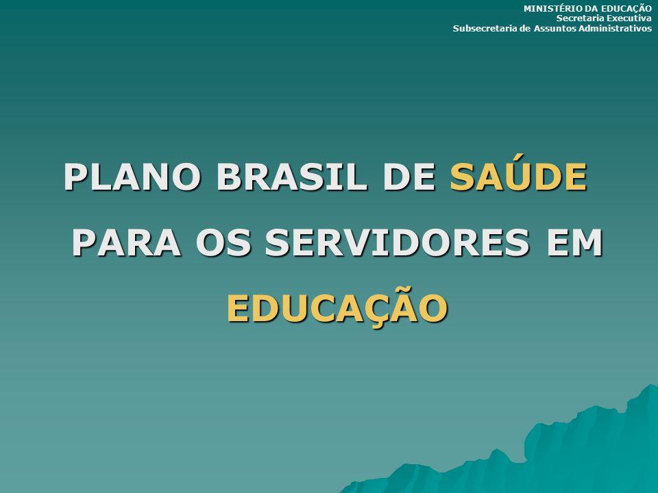 PLANO BRASIL DE SAÚDE PARA OS SERVIDORES EM EDUCAÇÃO MINISTÉRIO DA EDUCAÇÃO Secretaria Executiva Subsecretaria de Assuntos Administrativos