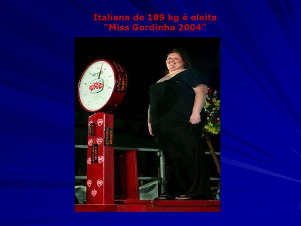 Italiana de 189 kg é eleita