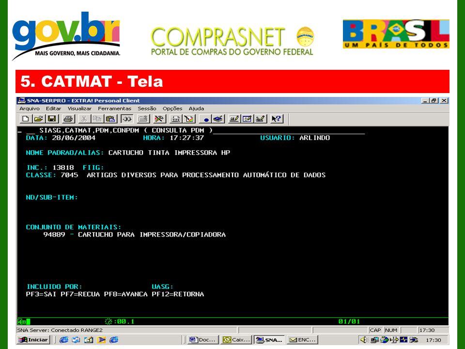 5. CATMAT - Tela