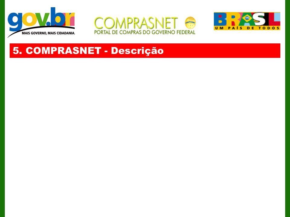 5. COMPRASNET - Descrição