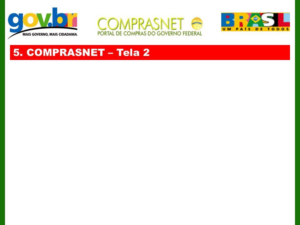 5. COMPRASNET – Tela 2