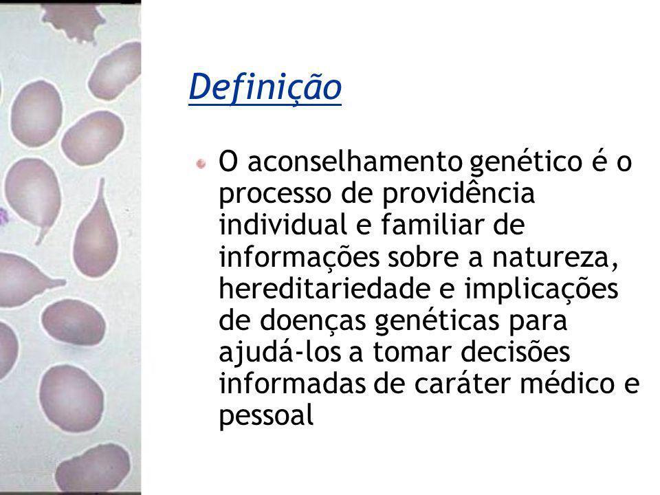 Definição O aconselhamento genético é o processo de providência individual e familiar de informações sobre a natureza, hereditariedade e implicações d