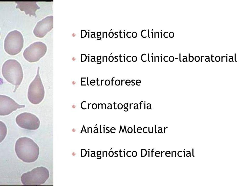 Diagnóstico Clínico Diagnóstico Clínico-laboratorial Eletroforese Cromatografia Análise Molecular Diagnóstico Diferencial