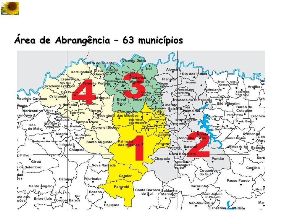 Área de Abrangência – 63 municípios