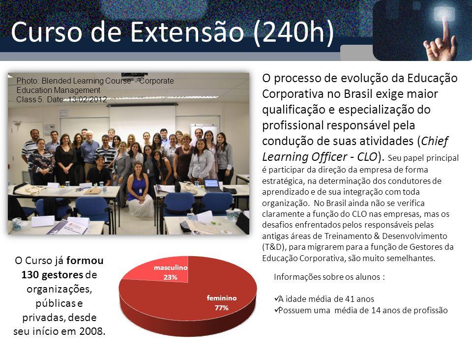 Curso de Curta Duração (64h) Gestão do Conhecimento, Educação Corporativa e Aprendizagem Organizacional Professores Responsáveis: Profa.