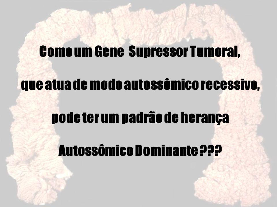 Como um Gene Supressor Tumoral, que atua de modo autossômico recessivo, pode ter um padrão de herança Autossômico Dominante ???