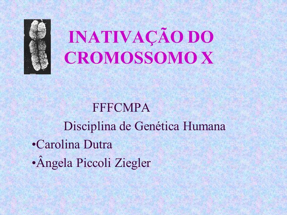FFFCMPA Disciplina de Genética Humana Carolina Dutra Ângela Piccoli Ziegler INATIVAÇÃO DO CROMOSSOMO X