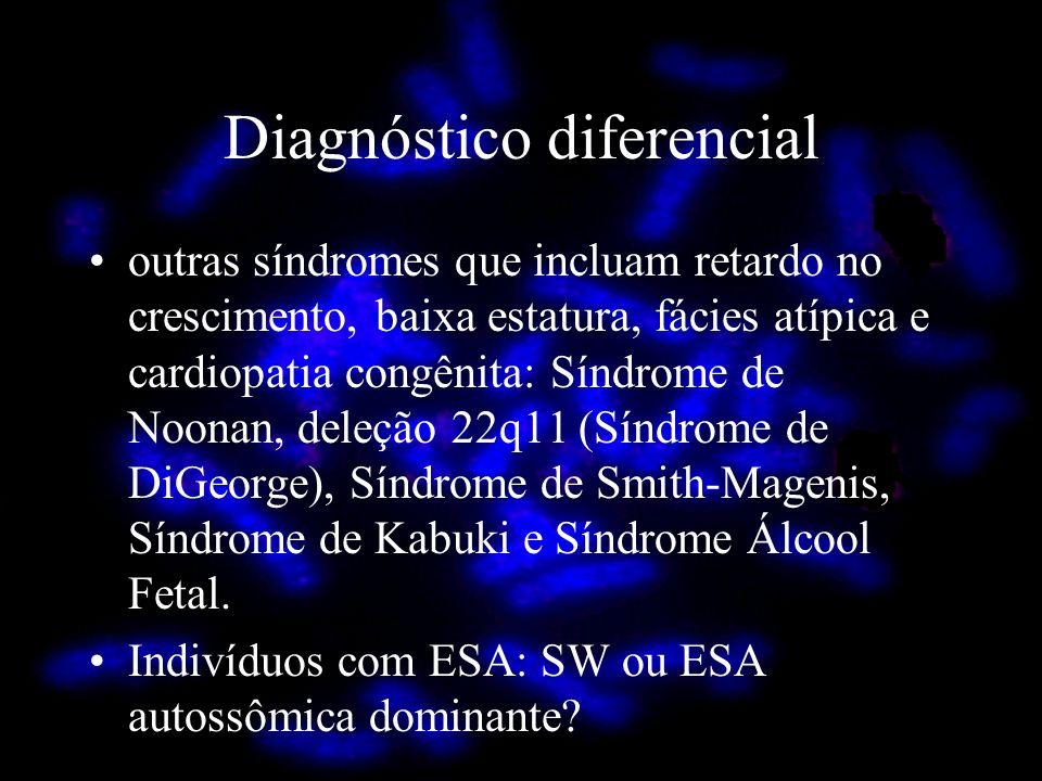 Diagnóstico diferencial outras síndromes que incluam retardo no crescimento, baixa estatura, fácies atípica e cardiopatia congênita: Síndrome de Noona