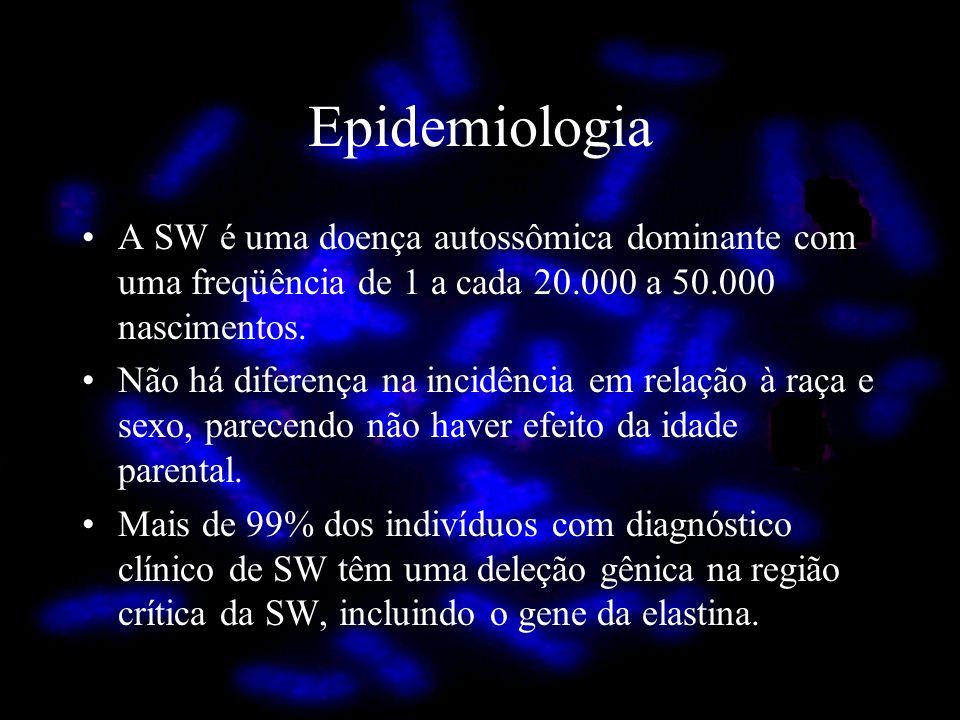 A SW é uma doença autossômica dominante com uma freqüência de 1 a cada 20.000 a 50.000 nascimentos. Não há diferença na incidência em relação à raça e