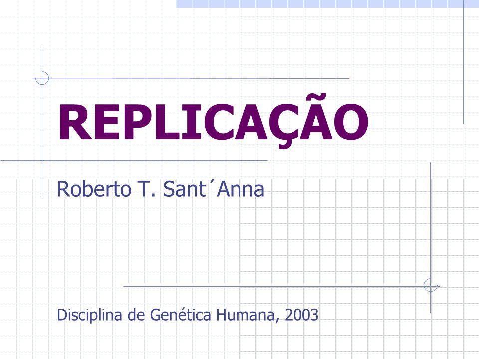 REPLICAÇÃO Roberto T. Sant´Anna Disciplina de Genética Humana, 2003