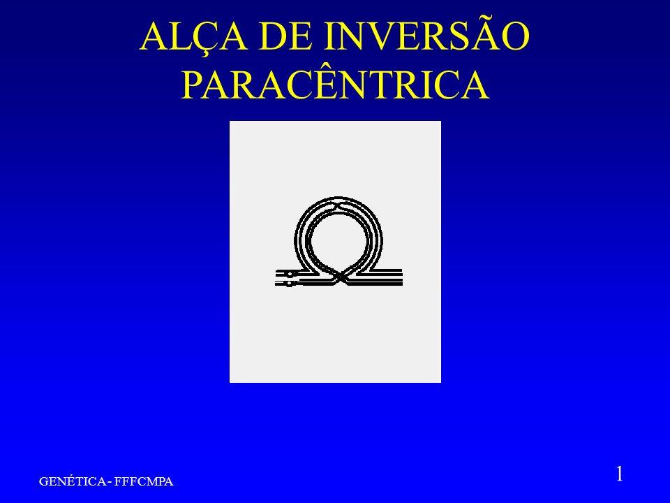 GENÉTICA - FFFCMPA 1 ALÇA DE INVERSÃO PARACÊNTRICA