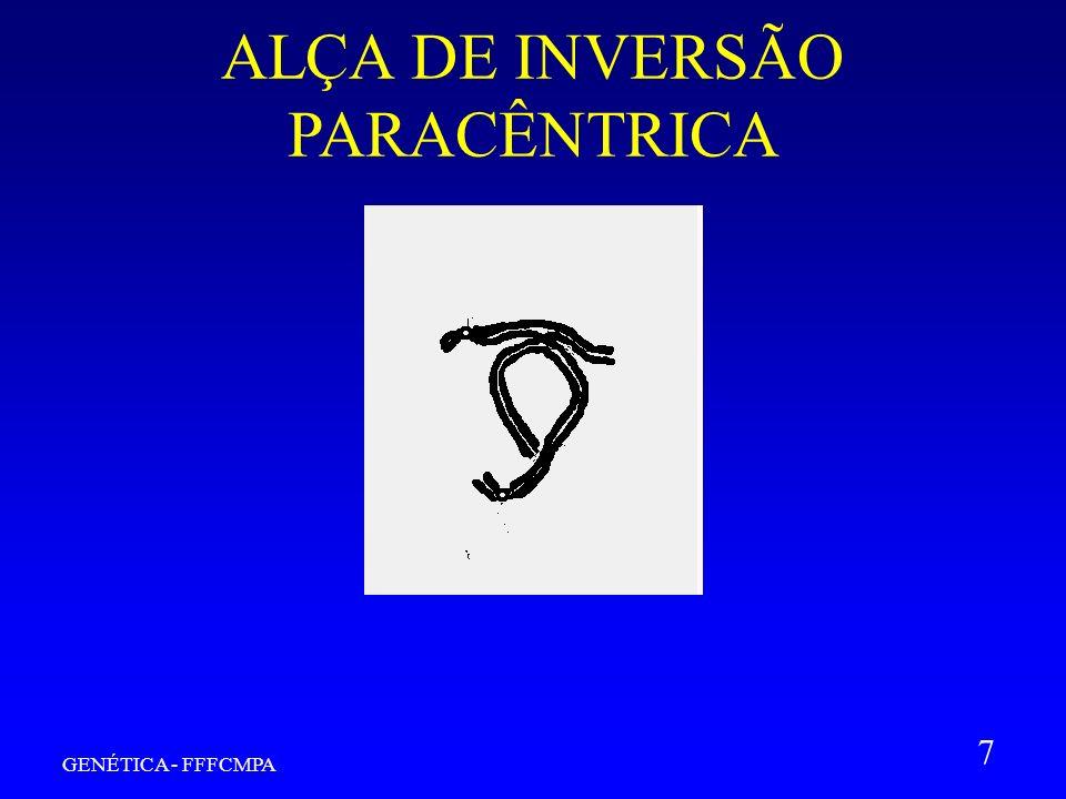 GENÉTICA - FFFCMPA 7 ALÇA DE INVERSÃO PARACÊNTRICA