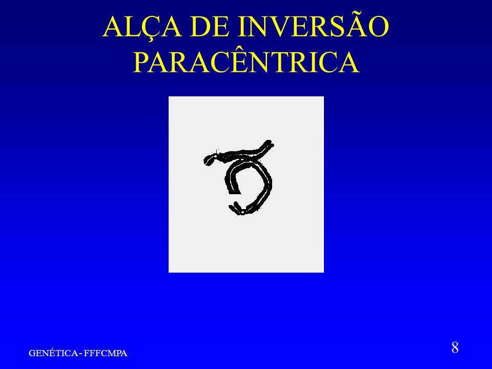 GENÉTICA - FFFCMPA 8 ALÇA DE INVERSÃO PARACÊNTRICA