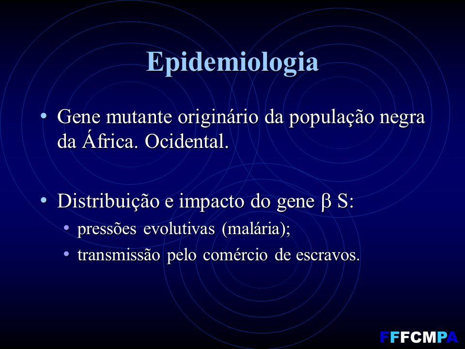 Epidemiologia Gene mutante originário da população negra da África.
