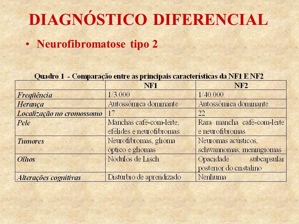 DIAGNÓSTICO DIFERENCIAL Neurofibromatose tipo 2