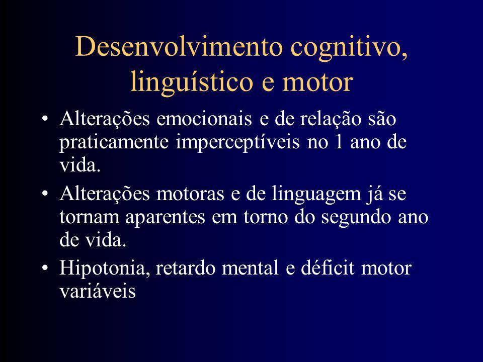 Desenvolvimento Intelectual e da Personalidade Alterações cerebrais na síndrome Down: –maturação deficiente dos dendritos –atrofia e deposição precoce