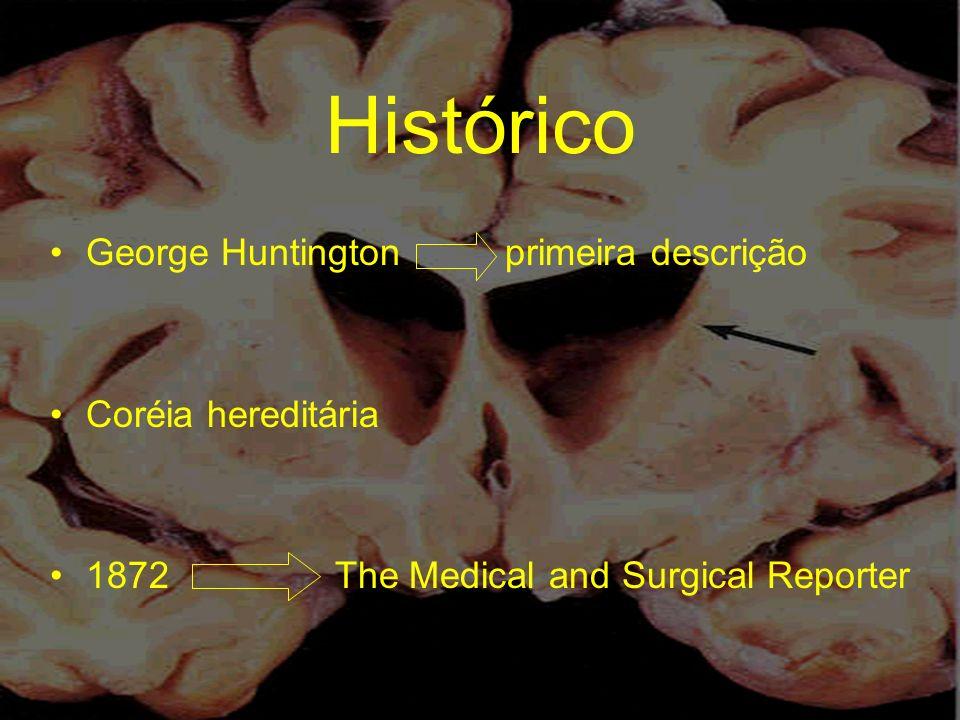 Histórico George Huntington primeira descrição Coréia hereditária 1872 The Medical and Surgical Reporter