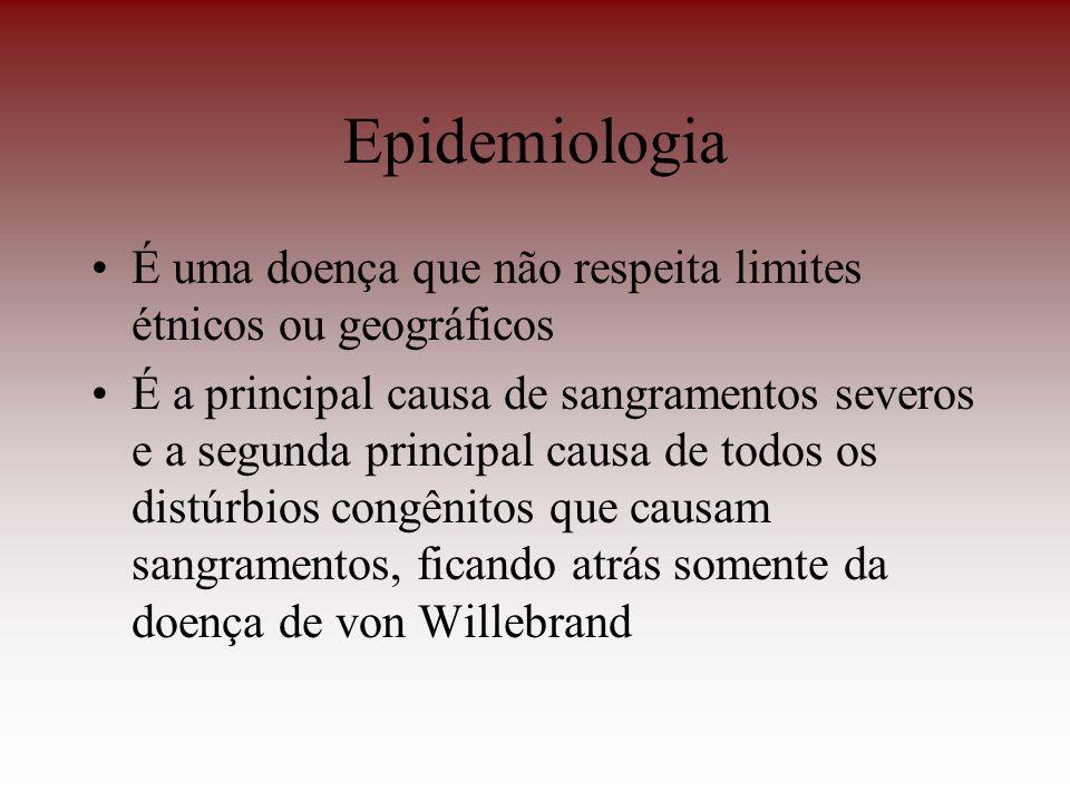 Epidemiologia É uma doença que não respeita limites étnicos ou geográficos É a principal causa de sangramentos severos e a segunda principal causa de
