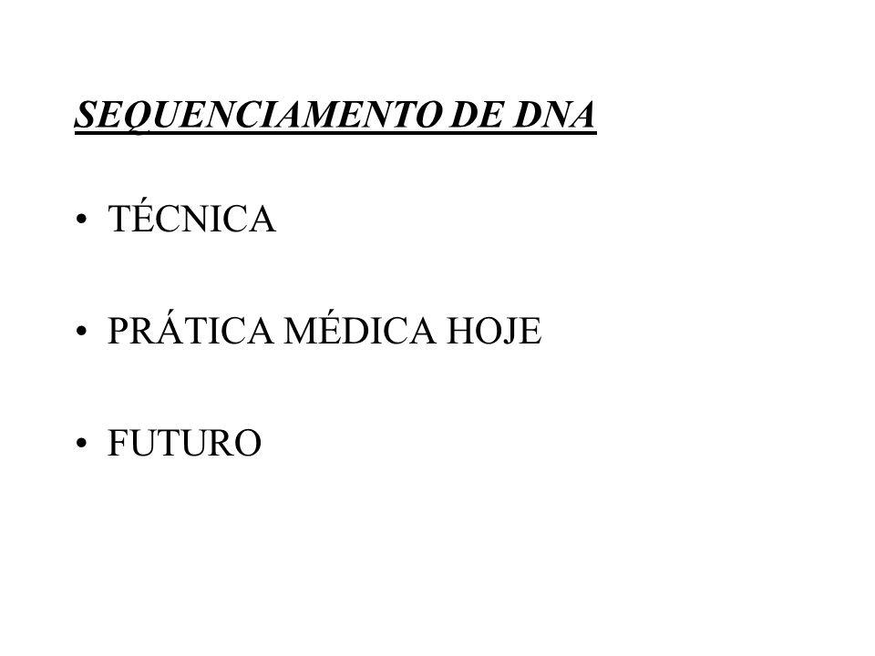 TÉCNICA: 1.EXTRAÇÃO DO DNA: A TÉCNICA VARIA DE ACORDO COM O MATERIAL.