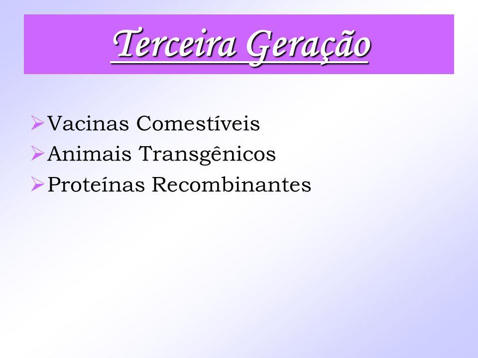 Vacinas Comestíveis Animais Transgênicos Proteínas Recombinantes Terceira Geração