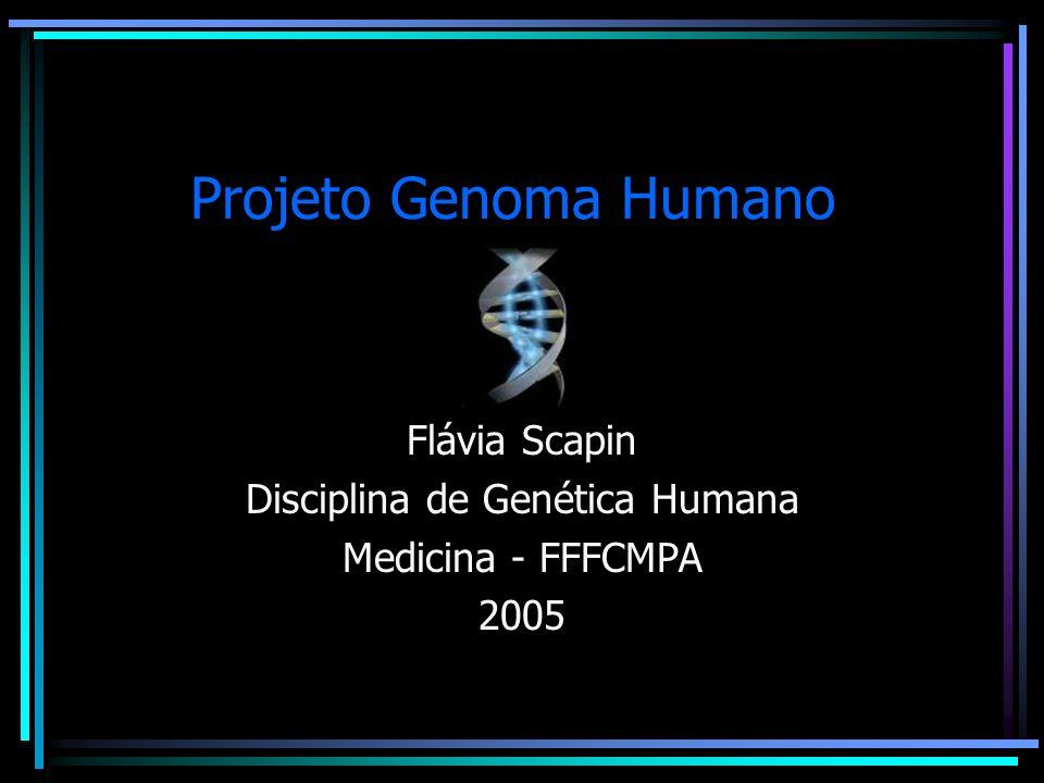 Projeto Genoma Humano Financiamento e competição: 1998 surge a Celera Genomics empresa privada, comandada pelo Dr.