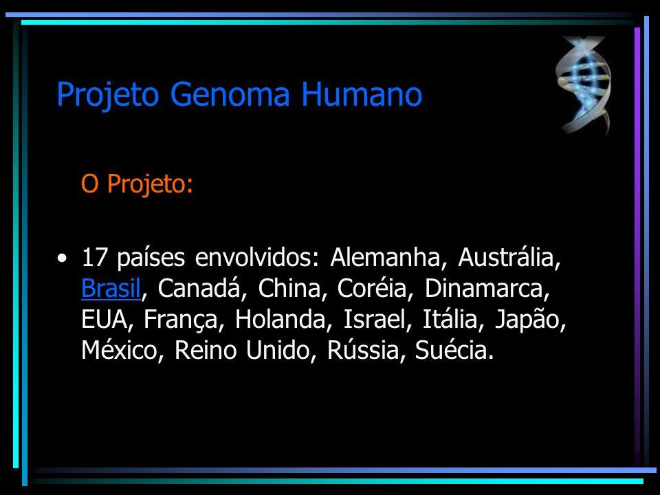 Projeto Genoma Humano HUGO ( Human Genome Organization)- sintonizar o trabalho e organizar o conhecimento em um banco de dados.