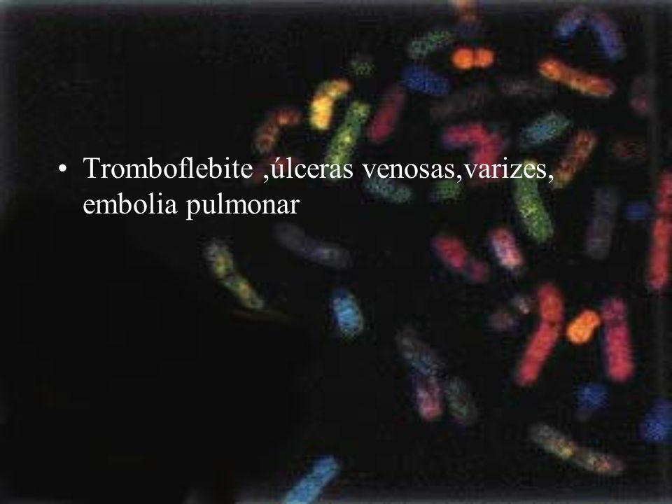 Tromboflebite,úlceras venosas,varizes, embolia pulmonar