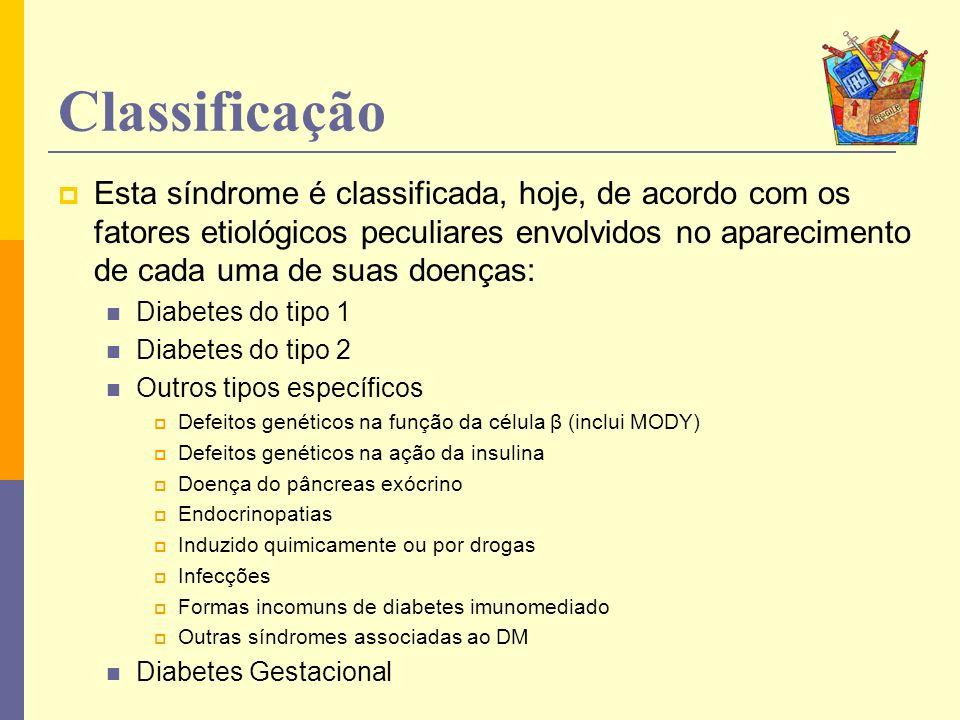 Classificação Esta síndrome é classificada, hoje, de acordo com os fatores etiológicos peculiares envolvidos no aparecimento de cada uma de suas doenç