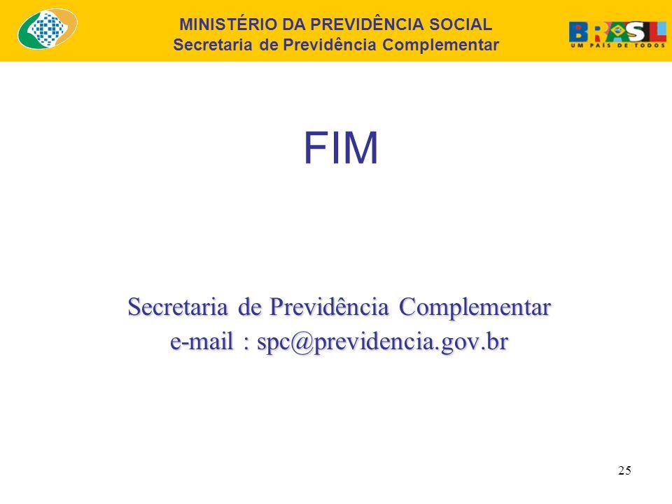 MINISTÉRIO DA PREVIDÊNCIA SOCIAL Secretaria de Previdência Complementar 24 Principais Referências 3ª. Seção Equacionamento do Déficit O equacionamento