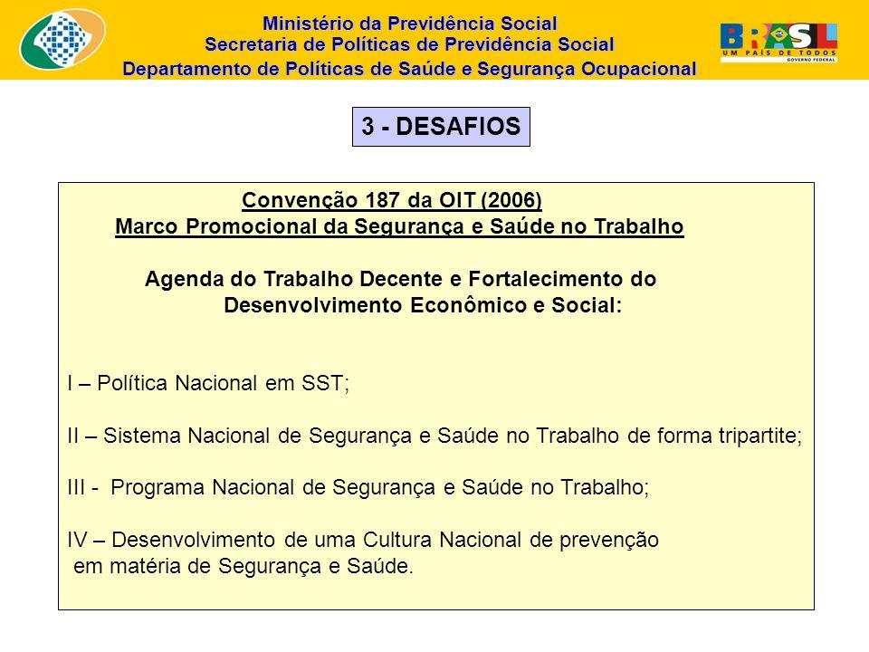 Ministério da Previdência Social Secretaria de Políticas de Previdência Social Departamento de Políticas de Saúde e Segurança Ocupacional Convenção 18