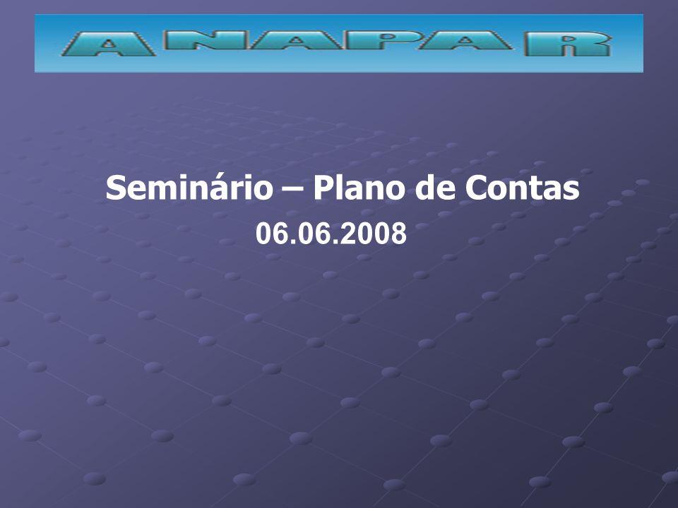 Seminário – Plano de Contas 06.06.2008