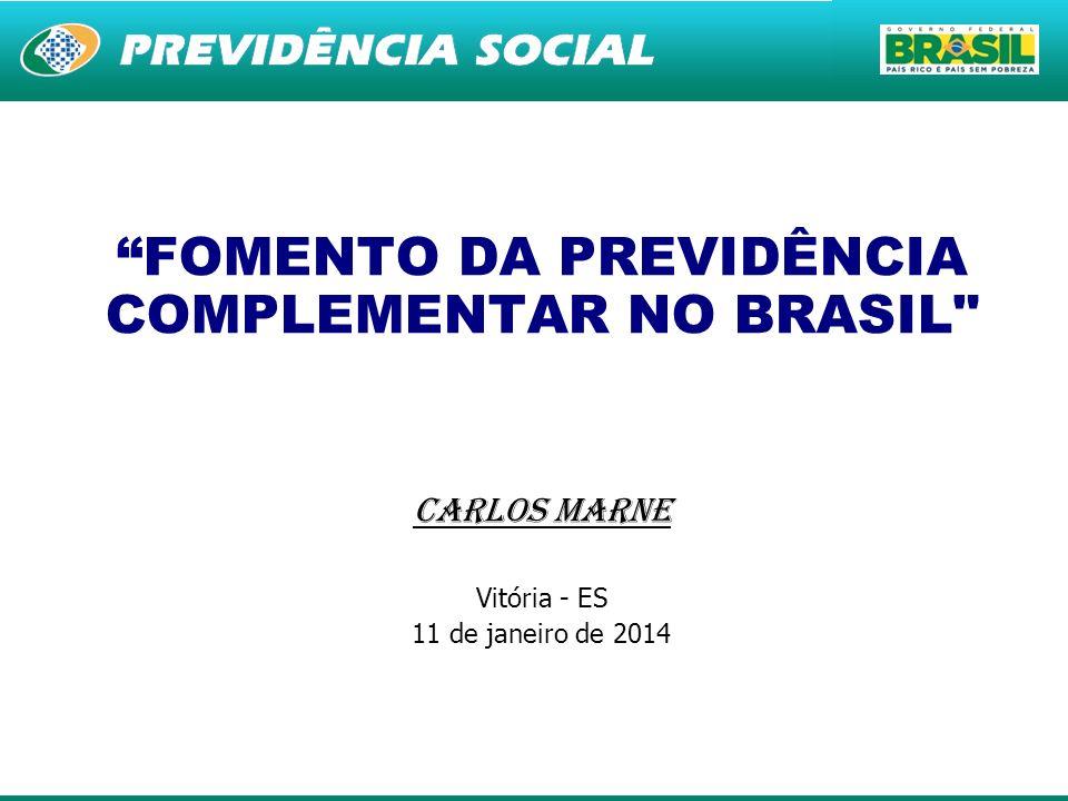 1 FOMENTO DA PREVIDÊNCIA COMPLEMENTAR NO BRASIL
