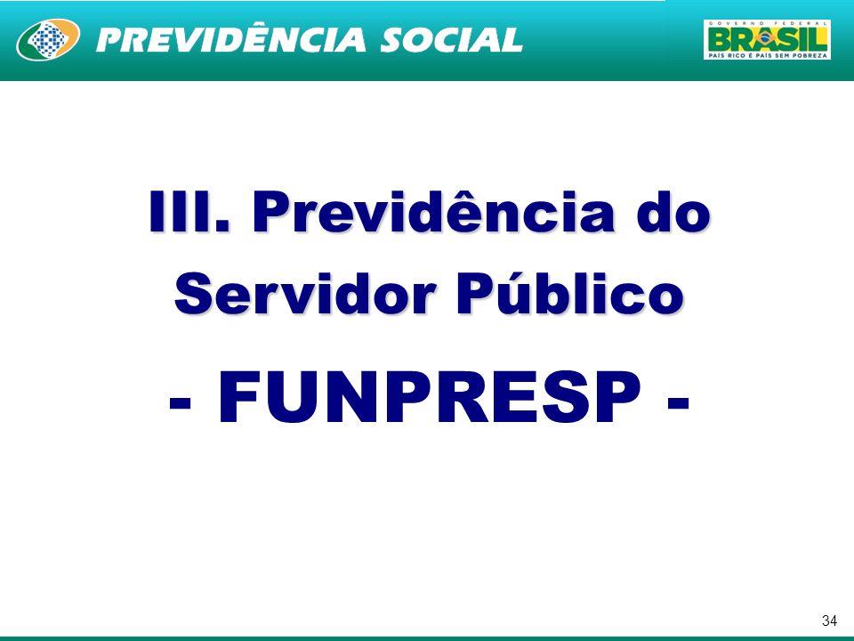 34 III. Previdência do Servidor Público - FUNPRESP -