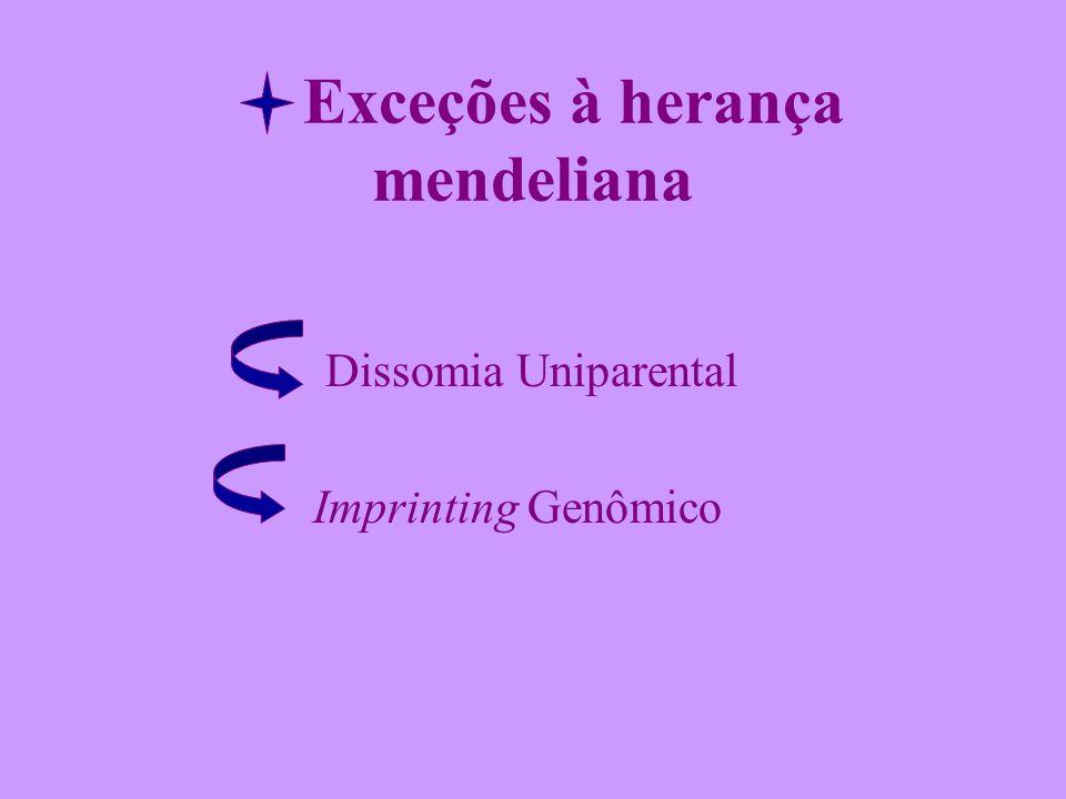 Exceções à herança mendeliana Dissomia Uniparental Imprinting Genômico